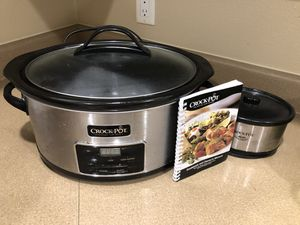 Crock pot, with mini and cookbook for Sale in Upland, CA