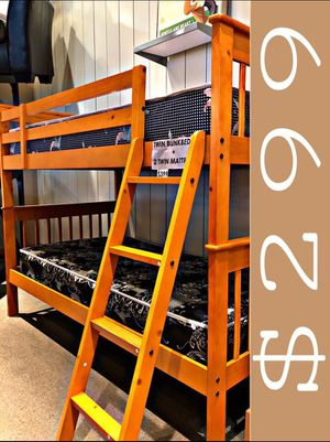 Solid wood bunk bed for Sale in Massapequa, NY