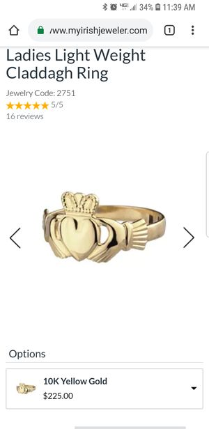 Gold Claddagh Ring for Sale in Pittsburgh, PA