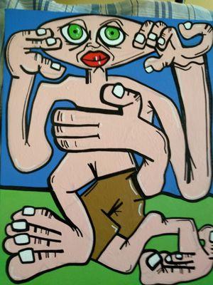 GIVE YOURSELF A HUG -Artwork by Abe Alvarez Tostado for Sale in San Francisco, CA