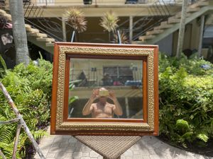 Antique wood and brass mirror for Sale in Fort Lauderdale, FL