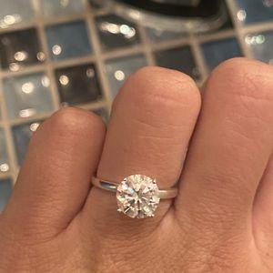 2 Carat Moissanite Diamond Ring Size 5 for Sale in Glendora, CA