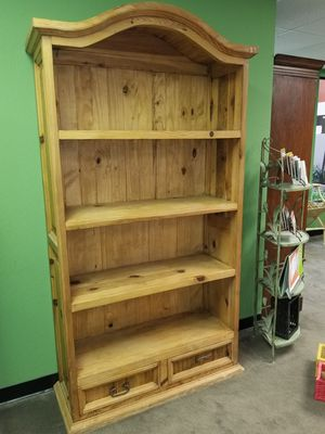 Two Beautiful and Sturdy Pine Bookcases with Drawers for Sale in San Jose, CA