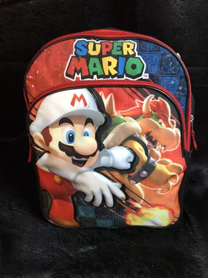 Super Mario backpack! New! 16 x 13 for Sale in Savannah, GA