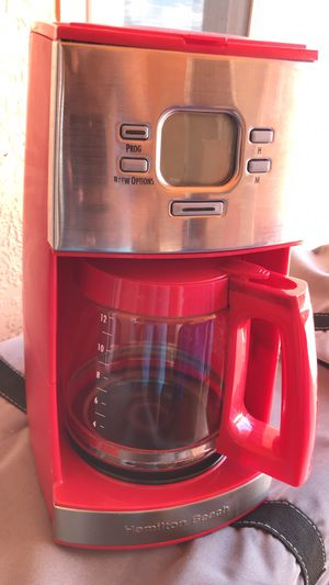 Coffee maker hamilton beach red like new for Sale in Clermont, FL