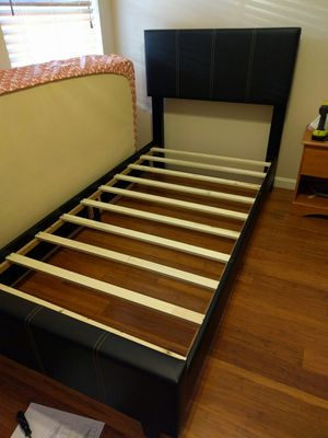 Brand New Twin Size Leather Platform Bed Frame (5 Color Options) for Sale in Silver Spring, MD