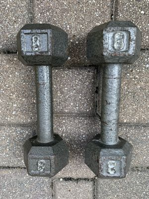 1 pair 8lb dumbbells - total 16 lbs for Sale in Barrington, IL