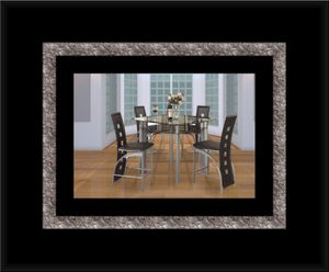 Counter height glass dining table with 4 chairs for Sale in Alexandria, VA