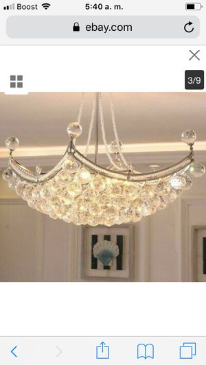 Chandelier Ceiling Crystal Light Interior Living Rooms Led Lights Lustre Fixture price firm $90 for Sale in Hayward, CA