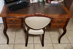 Computer desk ,Secretary desk/Chair Escritorio / silla / muebles / antique furniture for Sale in Miami, FL