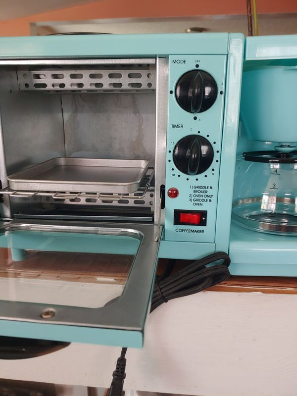 Oven with coffee maker