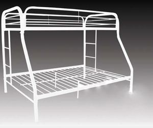 Metal bunk beds twin on top full on bottom for Sale in Bensalem, PA