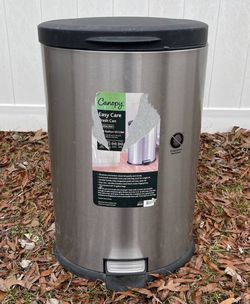 Canopy Stainless Steel Fingerprint Resistant 40-Liter Oval Step Can Pedal Bin Trash for Sale in Chapel Hill,  NC