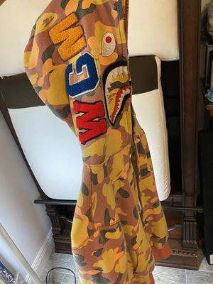 Bape Ultimate 1st Camo WGM Wappen Shark Orange Hoodie for Sale in Naples, FL