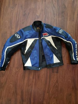 AGV Sport Suzuki GSXR MotorBike Leather Jacket Motorcycle Sports Racing Leather Jacket 46. Condition is used for Sale in Los Angeles, CA