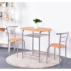3 PCS Bistro Dining Set Table and 2 Chairs Kitchen Pub Home Furniture Restaurant for Sale in South El Monte, CA