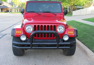 Red 2004 WRANGLER JEEP 4X4 AWDWheels Good for Sale in Fort Wayne, IN