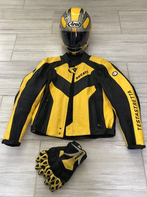 Ducati motorcycle jacket, helmet and gloves for Sale in Las Vegas, NV