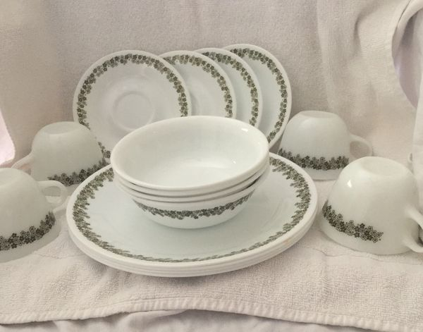Vintage Corelle Pyrex Crazy Daisy Spring Blossom Dishes