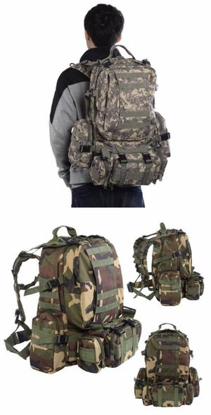 New $20 each 55 liter outdoor military tactical backpack rucksack camping army marines military style digital camo jungle camaflouge or swat black for Sale in Pico Rivera, CA