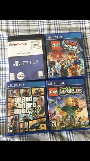 Play station 4 games $45 bundle pack all games included for Sale in Alexandria, VA