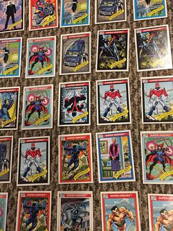 Vintage 1990 Marvel Super Hero Cards (50) for Sale in Center Moriches,  NY