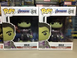 Funko POP Avengers Marvel EndGame Hulk 6inch Action Figure Collectible for Sale in Long Beach, CA