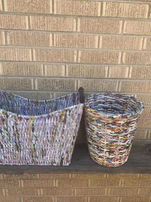Magazine holder, Trash can & Wire basket for Sale in Wheat Ridge, CO