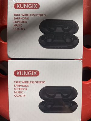 Wireless Bluetooth Earbuds KUNGIX True Wireless Headphones, Bluetooth 5.0 3D Stereo Sound Touch Mini Noise Cancelling Earphones, Sweatproof Sports TW for Sale in La Puente, CA