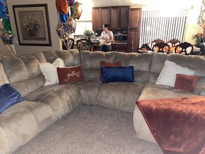 Beige Sectional (couch only) for Sale in Coachella, CA
