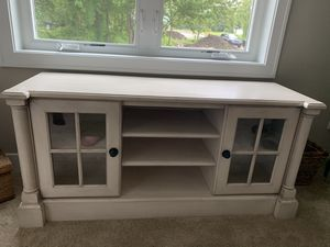 Off White Wood Media Center Glass Doors for Sale in Fair Haven, MI
