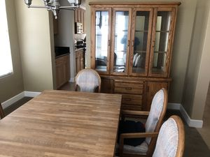 Dining table, chairs and china cabinet for Sale in Manteca, CA