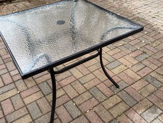 """38"""" X 38"""" Glass Patio Table for Sale in Austin,  TX"""