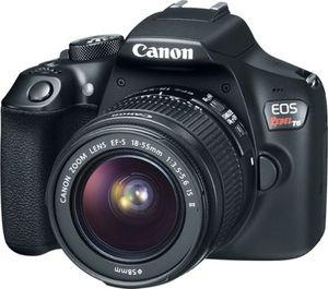 Canon - EOS Rebel T6 DSLR Camera with EF-S 18-55mm IS II and EF 75-300mm III lens - Black for Sale in Centreville, VA