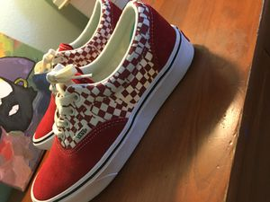 Vans shoes (Red and White) for Sale in Durham, NC