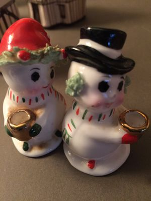 Cute tiny snowman candle holders for Sale in Tacoma, WA