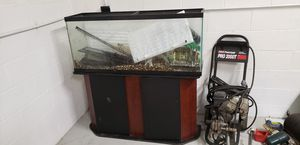55 gal fish tank with stand for Sale in Port Orchard, WA