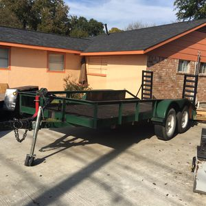 Trailer 6ft x 16ft treated lumber utility with ramp for Sale in Houston, TX