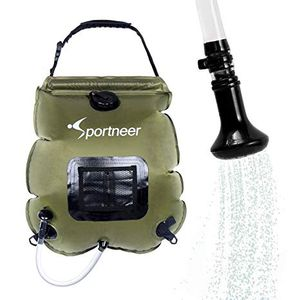 Sportneer solar camping shower bag 5 gallon for Sale in Brooklyn, NY