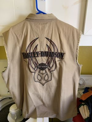 2 Harley Davidson sleeveless shirts for Sale in Gladwin, MI