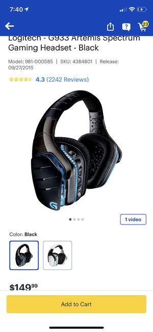 G933 headphones for Sale in Brooklyn, OH