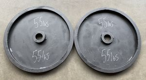 Custom Olympic Weights 2x55lbs (110lbs Total) Workout Set for Sale in Happy Valley, OR