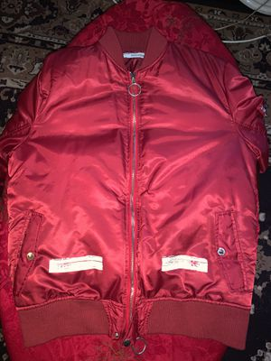 OFF WHITE bomber jacket fits small/ medium for Sale in Washington, DC