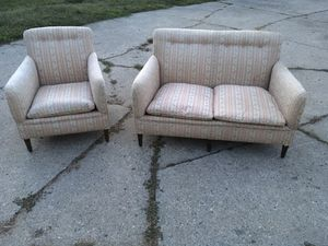 Beautiful Antique Century Boudoir Couch and Chair for Sale in Grosse Pointe Woods, MI