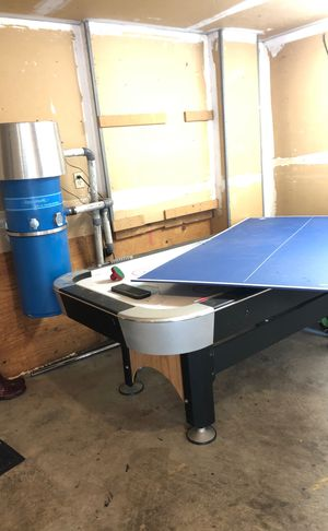 Air hockey table with ping pong table cover. for Sale in Burien, WA