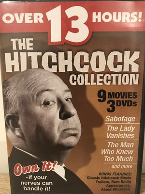 Alfred Hitchcock dvd set 9 movies for Sale in Sterling, VA
