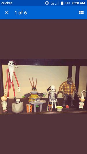 Nightmare Before Christmas assorted resin Statues Complete Set of 4 by NECA for Sale in Monroeville, PA