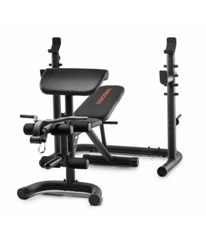 Weider XRS 20 Olympic Workout Bench with Independent Squat Rack and Preacher Pad for Sale in Cedarhurst, PA