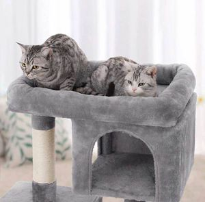 Cat Tree for Large Cats, Cat Tower with 2 Cozy Plush Condos and Sisal Posts for Sale in Chino, CA