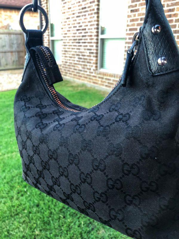 Black Gucci hobo shoulder bag